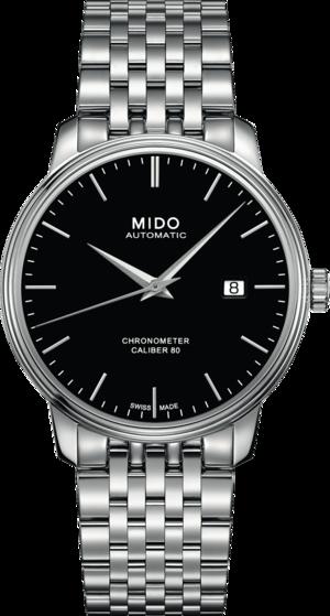 Herrenuhr Mido Baroncelli III Chronometer 80 Gent mit schwarzem Zifferblatt und Edelstahlarmband