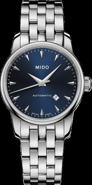 Damenuhr Mido Midnight Blue mit blauem Zifferblatt und Edelstahlarmband