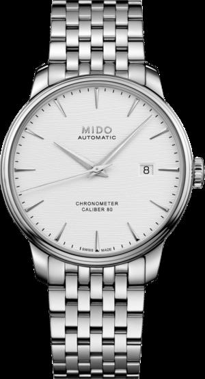 Herrenuhr Mido Mido Baroncelli III Chronometer mit weißem Zifferblatt und Edelstahlarmband