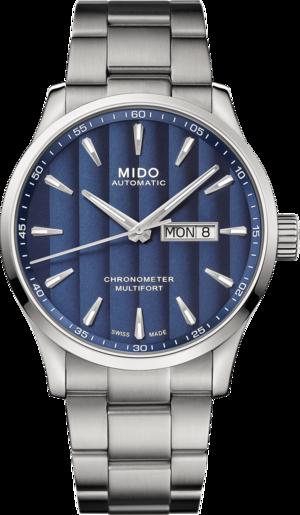 Herrenuhr Mido Multifort Chronometer 1 mit blauem Zifferblatt und Edelstahlarmband