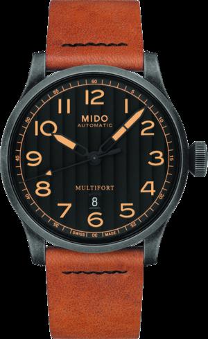 Herrenuhr Mido Multifort Escape Horween Special Edition mit schwarzem Zifferblatt und Kalbsleder-Armband