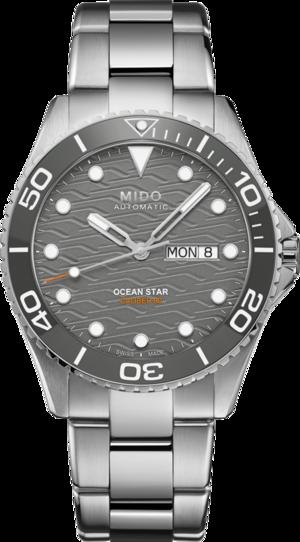 Herrenuhr Mido Ocean Star 200C mit grauem Zifferblatt und Edelstahlarmband