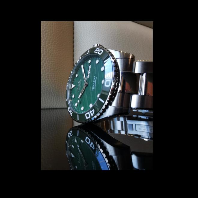 Herrenuhr Mido Ocean Star 200C mit grünem Zifferblatt und Edelstahlarmband bei Brogle
