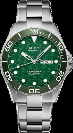 Herrenuhr Mido Ocean Star 200C mit grünem Zifferblatt und Edelstahlarmband
