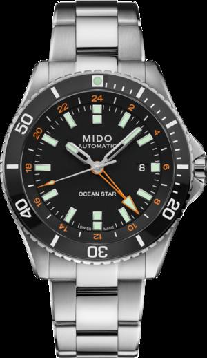 Herrenuhr Mido Ocean Star GMT 44mm mit schwarzem Zifferblatt und Edelstahlarmband