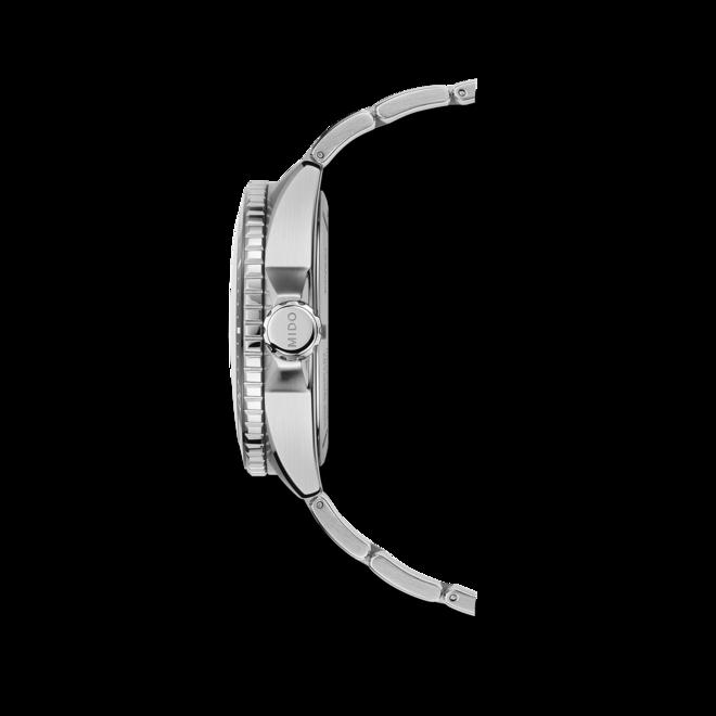Herrenuhr Mido Ocean Star GMT 44mm mit schwarzem Zifferblatt und Edelstahlarmband bei Brogle