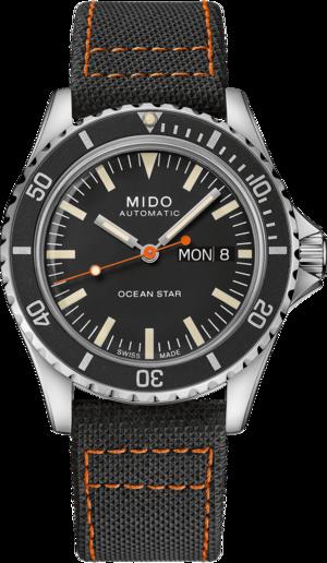 Herrenuhr Mido Ocean Star Tribute Automatik Special Edition mit schwarzem Zifferblatt und Edelstahlarmband