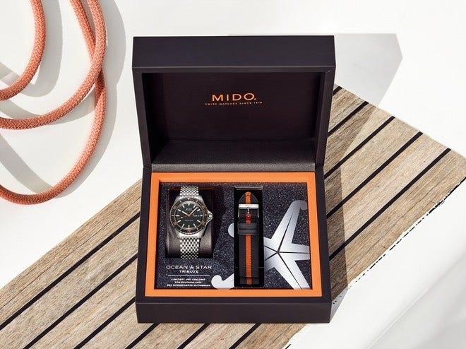 Herrenuhr Mido Ocean Star Tribute Limited Edition Germany mit schwarzem Zifferblatt und Edelstahlarmband bei Brogle