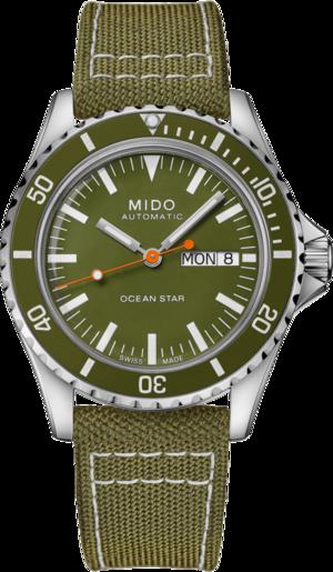 Herrenuhr Mido Ocean Star Tribute mit grünem Zifferblatt und Textilarmband