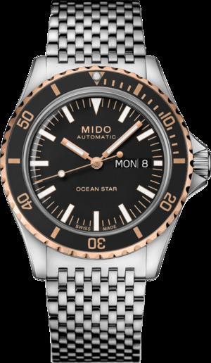 Herrenuhr Mido Ocean Star Tribute mit schwarzem Zifferblatt und Edelstahlarmband