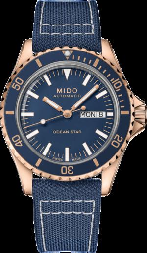 Herrenuhr Mido Ocean Star Tribute mit blauem Zifferblatt und Textilarmband