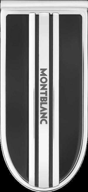 Geldklammer Montblanc aus Edelstahl mit Onyx