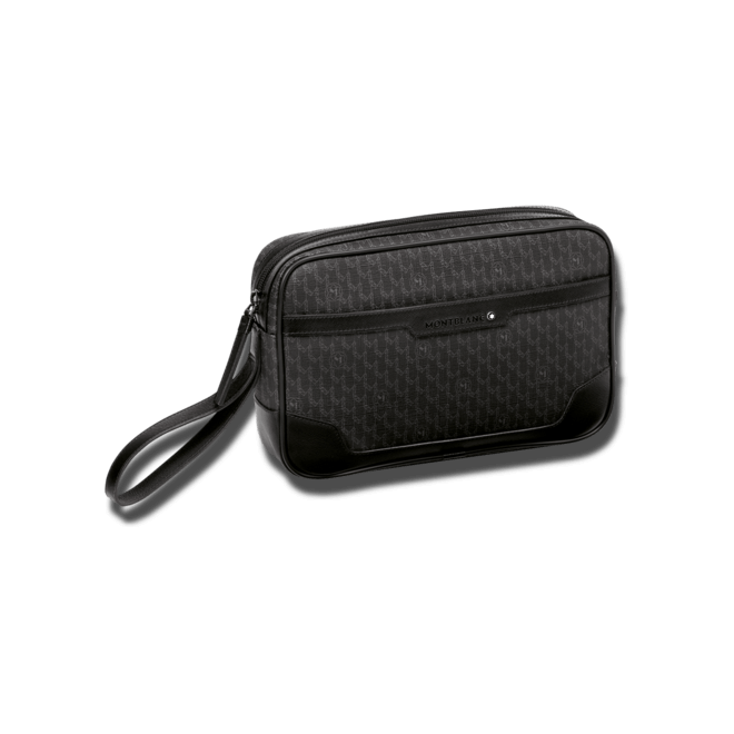 Handtasche Montblanc Clutch aus Kalbsleder und Textil