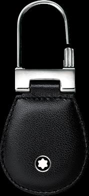 Schlüsselanhänger Montblanc Meisterstück Schlüsselanhänger aus Edelstahl und Rindsleder