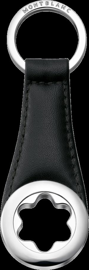 Schlüsselanhänger Montblanc Star aus Rindsleder und Edelstahl