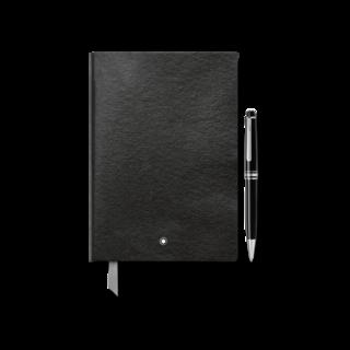 Montblanc Set Set aus Meisterstück Classique Platinum Kugelschreiber und Notebook #146 Black 128869