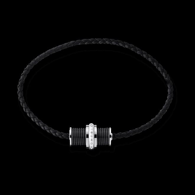 Armband Montblanc aus Rindsleder und PVD-Beschichtung auf Edelstahl