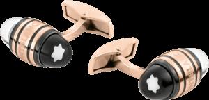 Manschettenknöpfe Montblanc Creative aus Edelstahl, PVD-Beschichtung auf Edelstahl und Lack