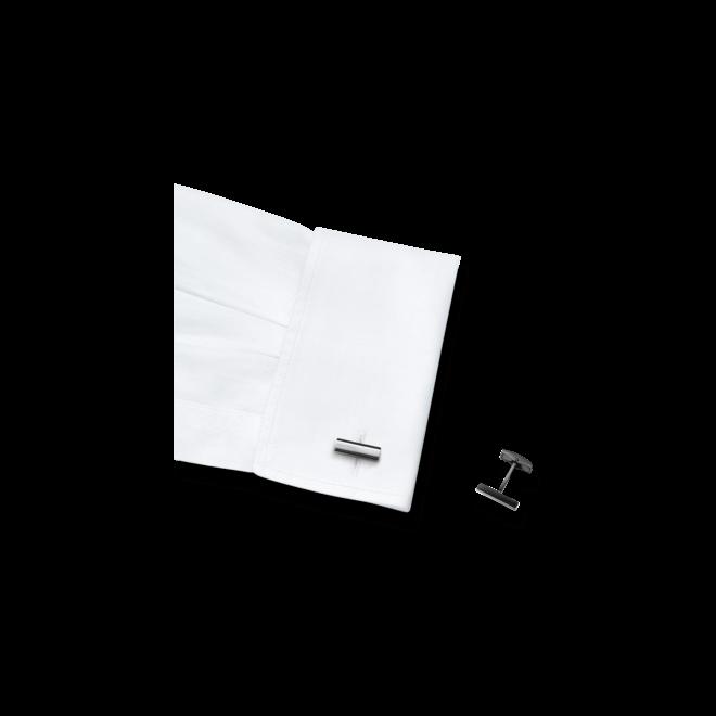 Manschettenknöpfe Montblanc Iconic aus Edelstahl und PVD-Beschichtung auf Edelstahl
