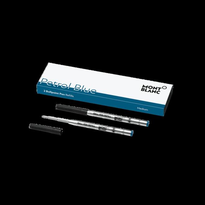 Kugelschreiberminen Montblanc 2 Kugelschreiberminen (M), Petrol Blue bei Brogle