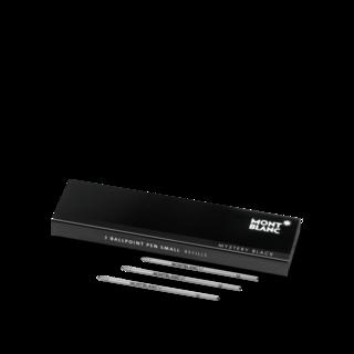 Montblanc Kugelschreiberminen 3 Stück klein Mystery Black für Meisterstück Mozart und Augmented Paper 116193