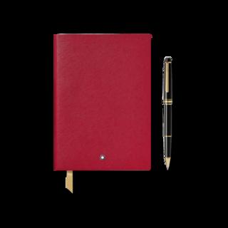 Montblanc Set aus Meisterstück Gold Line Classique Rollerball und Notebook #146 Red 123754