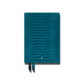 Montblanc Notizblock Fine Stationery Notebook #146 Croco Print Aquamarin 118027