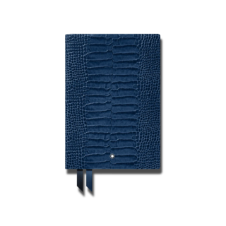 Montblanc Notizblock Fine Stationery Notebook #146 Croco Print Blau-Violett 118026