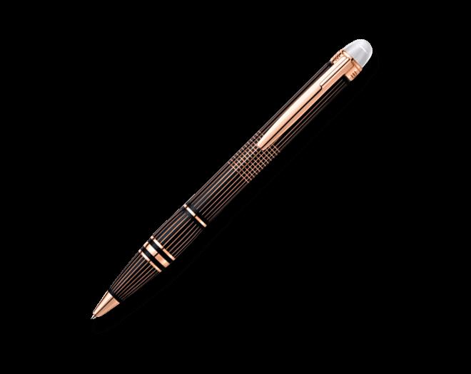 Kugelschreiber Montblanc Starwalker Red Gold-Plated Metal Kugelschreiber aus Lack
