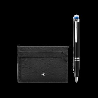 Montblanc Set Geschenkset aus StarWalker Resin Kugelschreiber und Montblanc Sartorial Etui 5 cc in Schwarz 123755