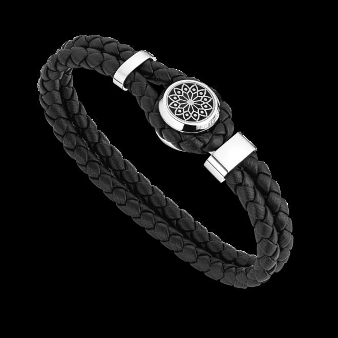 Armband Montblanc Hommage to Victor Hugo Armband aus Kalbsleder und Edelstahl Größe L bei Brogle