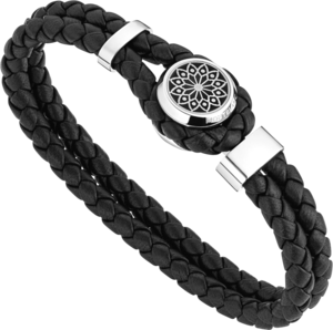 Armband Montblanc Hommage to Victor Hugo Armband aus Kalbsleder und Edelstahl Größe L