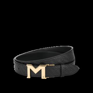 Montblanc Gürtel Ledergürtel mit M-Schließe 128786