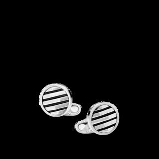 Montblanc Manschettenknöpfe Manschettenknöpfe, rund, mit geometrischer Intarsie 123804