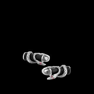 Montblanc Manschettenknöpfe Manschettenknöpfe, stabförmig, in Silber mit Schlangenmotiv 124059