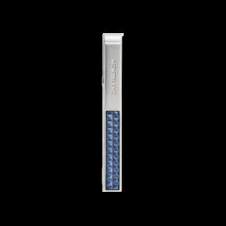 Montblanc Krawattenhalter mit blauer gemusterter Intarsie 123806