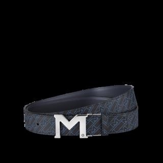 Montblanc Gürtel mit palladierter M-Schließe 127699