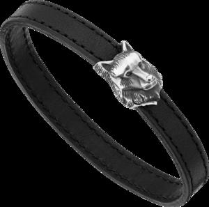 Armband Montblanc mit Wolfskopf aus 925 Sterlingsilber Größe L