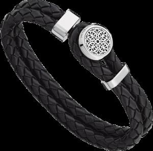Armband Montblanc Urban Spirit - Metropolitan Edition aus Kalbsleder und Edelstahl Größe L