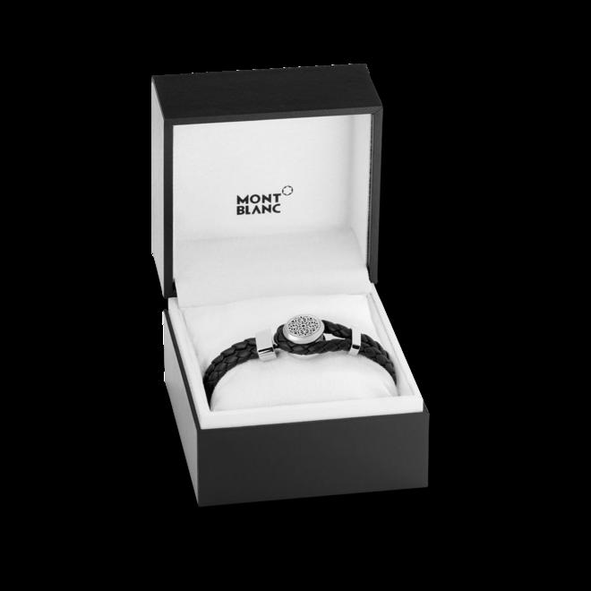Armband Montblanc Urban Spirit - Metropolitan Edition aus Kalbsleder und Edelstahl Größe L bei Brogle