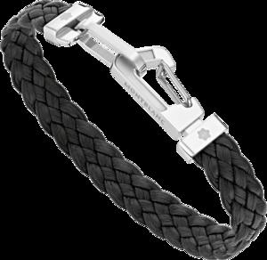Armband Montblanc Wrap Me aus Edelstahl und Kalbsleder Größe M