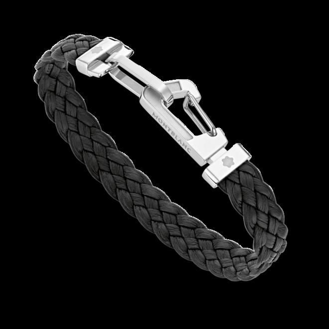 Armband Montblanc Wrap Me aus Edelstahl und Kalbsleder Größe M bei Brogle
