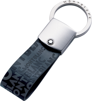 Schlüsselanhänger Montblanc 4810 Westside Schlüsselring aus Kalbsleder und Edelstahl