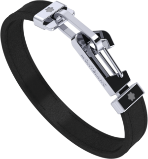Armband Montblanc aus Rindsleder und Edelstahl Größe L