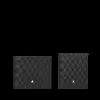 Montblanc Set aus Brieftasche 6 cc und Visitenkartenetui mit Sichtfach 126282