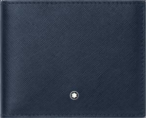 Geldbeutel Montblanc Sartorial Brieftasche 6 cc aus Kalbsleder