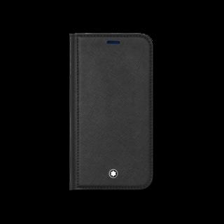 Montblanc Handyhülle Sartorial Flip Side Cover mit 2 cc und Sichtfach für das Apple iPhone 12 Min 128656