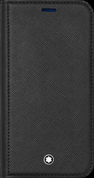 Handyhülle Montblanc Sartorial Flip Side Cover mit 2 cc und Sichtfach für das Apple iPhone 12 Min aus Kalbsleder