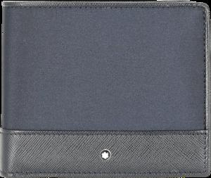 Geldbeutel Montblanc Sartorial Jet Wallet 8cc aus Kalbsleder und Nylon