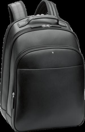 Rucksack Montblanc Sartorial Rucksack groß mit 3 Hauptfächern aus Kalbsleder